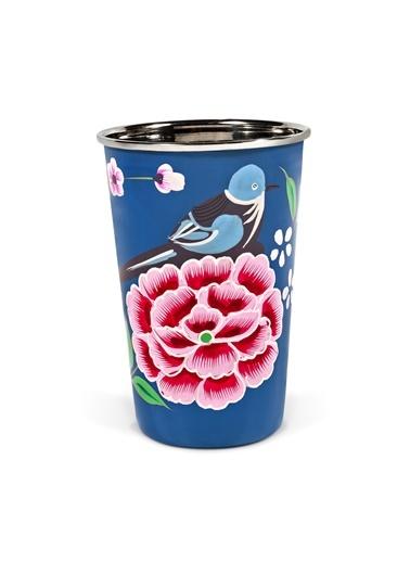 Kuşlu Mavi Bardak-3rd Culture